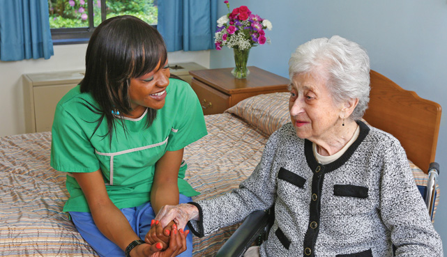 The grounds at our senior care facilities � Luther Woods